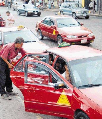 Taxi in Cosa Rica