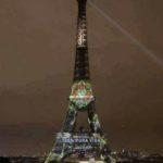 Torre Eiffel Illuminata in onore del COSTA RICA